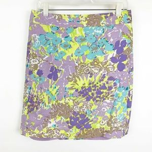 Talbots  Womens Floral Print Pencil Straight Skirt